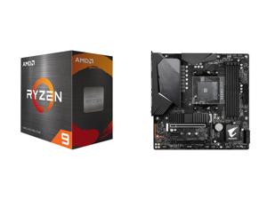 AMD Ryzen 9 5900X 12-Core 3.7 GHz Socket AM4 105W 100-100000061WOF Desktop Processor and GIGABYTE B550M AORUS PRO-P AM4 AMD B550 SATA 6Gb/s Micro ATX AMD Motherboard
