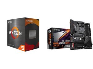 AMD Ryzen 9 5900X 12-Core 3.7 GHz Socket AM4 105W 100-100000061WOF Desktop Processor and GIGABYTE B550 AORUS ELITE AX V2 AM4 AMD B550 ATX Motherboard with Dual M.2 SATA 6Gb/s USB 3.2 Gen 2 2.4/5 GHz Dual-Band 2.5 GbE LAN PCIe 4.0