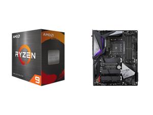 AMD Ryzen 9 5900X 12-Core 3.7 GHz Socket AM4 105W 100-100000061WOF Desktop Processor and GIGABYTE B550 AORUS MASTER AM4 AMD B550 ATX Motherboard with Triple M.2 SATA 6Gb/s USB 3.2 Gen 2 WIFI 6 2.5 GbE LAN PCIe 4.0
