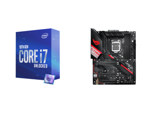 Intel Core i7-10700K Comet Lake 8-Core 3.8 GHz LGA 1200 125W Desktop Processor w/ Intel UHD Graphics 630 and ASUS ROG STRIX Z490-H GAMING LGA 1200 Intel Z490 SATA 6Gb/s ATX Intel Motherboard
