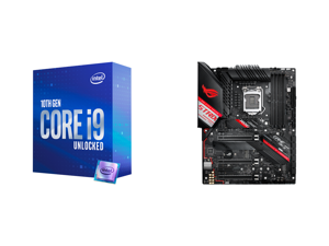 Intel Core i9-10850K Comet Lake 10-Core 3.6 GHz LGA 1200 125W Desktop Processor Intel UHD Graphics 630 - BX8070110850K and ASUS ROG STRIX Z490-H GAMING LGA 1200 Intel Z490 SATA 6Gb/s ATX Intel Motherboard