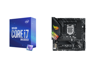 Intel Core i7-10700K Comet Lake 8-Core 3.8 GHz LGA 1200 125W Desktop Processor w/ Intel UHD Graphics 630 and ASUS ROG STRIX Z490-G GAMING (WI-FI) LGA 1200 Intel Z490 SATA 6Gb/s Micro ATX Intel Motherboard