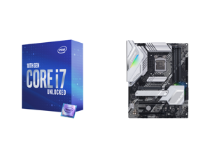 Intel Core i7-10700K Comet Lake 8-Core 3.8 GHz LGA 1200 125W Desktop Processor w/ Intel UHD Graphics 630 and ASUS PRIME Z490-A LGA 1200 Intel Z490 SATA 6Gb/s ATX Intel Motherboard