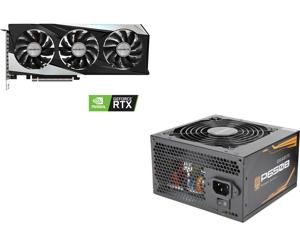 GIGABYTE GeForce RTX 3060 Ti DirectX 12 GV-N306TGAMING OC-8GD 8GB 256-Bit GDDR6 PCI Express 4.0 x16 ATX Video Card and GIGABYTE P650B GP-P650B 650W Intel Form Factor ATX 12V v2.31 80 PLUS BRONZE Certified Non-Modular Active PFC (>0.9 typica