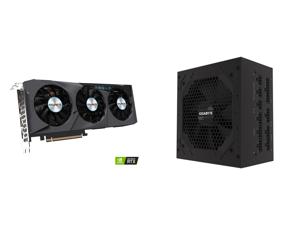 GIGABYTE GeForce RTX 3070 DirectX 12 GV-N3070EAGLE OC-8GD 8GB 256-Bit GDDR6 PCI Express 4.0 x16 ATX Video Card and GIGABYTE P750GM 750W ATX 12V v2.31 80 PLUS GOLD Certified Full Modular Active PFC Power Supply