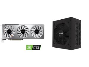 GIGABYTE GeForce RTX 3070 DirectX 12 GV-N3070VISION OC-8GD 8GB 256-Bit GDDR6 PCI Express 4.0 x16 ATX Video Card and GIGABYTE P750GM 750W ATX 12V v2.31 80 PLUS GOLD Certified Full Modular Active PFC Power Supply