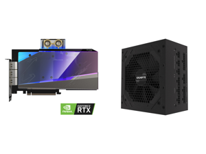 GIGABYTE AORUS GeForce RTX 3080 XTREME WATERFORCE WB 10G Graphics Card WATERFORCE Water Block Cooling System 10GB 320-bit GDDR6X GV-N3080AORUSX WB-10GD Video Card and GIGABYTE GP-P850GM 850W ATX 12V v2.31 80 PLUS GOLD Certified Full Modular
