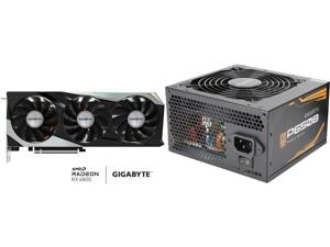GIGABYTE Radeon RX 6800 GAMING OC 16G Graphics Card WINDFORCE 3X Cooling System 16GB 256-bit GDDR6 GV-R68GAMING OC-16GD Video Card Powered by AMD RDNA 2 HDMI 2.1 and GIGABYTE P650B GP-P650B 650W Intel Form Factor ATX 12V v2.31 80 PLUS BRONZ