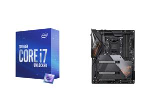 Intel Core i7-10700K Comet Lake 8-Core 3.8 GHz LGA 1200 125W Desktop Processor w/ Intel UHD Graphics 630 and GIGABYTE Z490 AORUS MASTER LGA 1200 Intel Z490 ATX Motherboard with Triple M.2 SATA 6Gb/s USB 3.2 Gen 2 WIFI 6 2.5 GbE LAN
