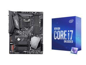 GIGABYTE Z490 AORUS ELITE AC LGA 1200 Intel Z490 ATX Motherboard with Dual M.2, SATA 6Gb/s, USB 3.2 Gen 2, Intel 802.11ac, 2.5 GbE LAN and Intel Core i7-10700K Comet Lake 8-Core 3.8 GHz LGA 1200 125W Desktop Processor w/ Intel UHD Graphics