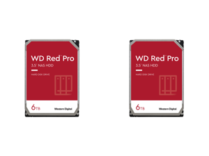 "2 x WD Red Pro WD6003FFBX 6TB 7200 RPM 256MB Cache SATA 6.0Gb/s 3.5"" Internal Hard Drive Bare Drive"