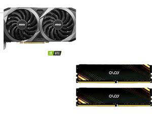 MSI GeForce RTX 3060 Ti DirectX 12 RTX 3060 Ti VENTUS 2X OC 8GB 256-Bit GDDR6 PCI Express 4.0 HDCP Ready Video Card and OLOy 16GB (2 x 8GB) 288-Pin DDR4 SDRAM DDR4 3600 (PC4 28800) Desktop Memory Model ND4U0836180BB1DA