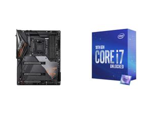 GIGABYTE Z490 AORUS MASTER LGA 1200 Intel Z490 ATX Motherboard with Triple M.2 SATA 6Gb/s USB 3.2 Gen 2 WIFI 6 2.5 GbE LAN and Intel Core i7-10700K Comet Lake 8-Core 3.8 GHz LGA 1200 125W Desktop Processor w/ Intel UHD Graphics 630
