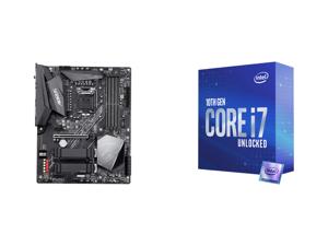 GIGABYTE Z490 AORUS ELITE AC LGA 1200 Intel Z490 ATX Motherboard with Dual M.2 SATA 6Gb/s USB 3.2 Gen 2 Intel 802.11ac 2.5 GbE LAN and Intel Core i7-10700K Comet Lake 8-Core 3.8 GHz LGA 1200 125W Desktop Processor w/ Intel UHD Graphics 630