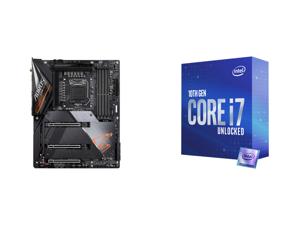 GIGABYTE Z490 AORUS ULTRA LGA 1200 Intel Z490 ATX Motherboard with Triple M.2 SATA 6Gb/s USB 3.2 Gen 2 WIFI 6 2.5 GbE LAN and Intel Core i7-10700K Comet Lake 8-Core 3.8 GHz LGA 1200 125W Desktop Processor w/ Intel UHD Graphics 630