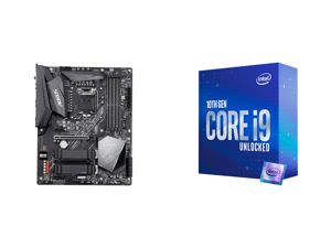 GIGABYTE Z490 AORUS ELITE AC LGA 1200 Intel Z490 ATX Motherboard with Dual M.2 SATA 6Gb/s USB 3.2 Gen 2 Intel 802.11ac 2.5 GbE LAN and Intel Core i9-10850K Comet Lake 10-Core 3.6 GHz LGA 1200 125W Desktop Processor Intel UHD Graphics 630 -