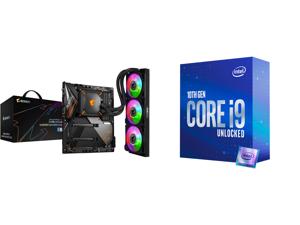GIGABYTE Z490 AORUS MASTER WATERFORCE LGA 1200 Intel Z490 SATA 6Gb/s ATX Intel Motherboard and Intel Core i9-10850K Comet Lake 10-Core 3.6 GHz LGA 1200 125W Desktop Processor Intel UHD Graphics 630 - BX8070110850K