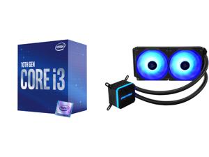 Intel Core i3-10100 Comet Lake Quad-Core 3.6 GHz LGA 1200 65W BX8070110100 Desktop Processor Intel UHD Graphics 630 and Enermax LIQMAX III RGB 240 All-in-one CPU Liquid Cooler for AM4 / LGA1200 240mm Radiator Dual-Chamber Water Block RGB Fa