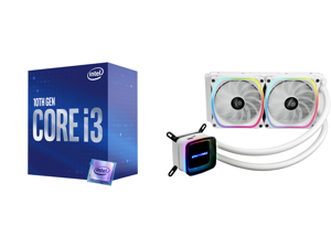 Intel Core i3-10100 Comet Lake Quad-Core 3.6 GHz LGA 1200 65W BX8070110100 Desktop Processor Intel UHD Graphics 630 and Enermax AQUAFUSION 240 Addressable RGB All-in-one CPU Liquid Cooler for AM4 / LGA1200 240mm Radiator Dual-Chamber Water
