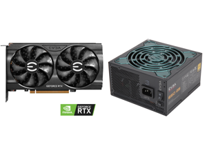 EVGA GeForce RTX 3060 Ti XC GAMING Video Card 08G-P5-3663-KR 8GB GDDR6 iCX3 Cooling Metal Backplate and EVGA SuperNOVA 650 G5 80 Plus Gold 650W Fully Modular Eco Mode with FDB Fan 10 Year Warranty Includes Power ON Self Tester Compact 150mm