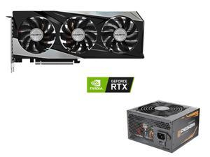 GIGABYTE GeForce RTX 3060 Ti GAMING OC PRO 8G (rev 2.0) Graphics Card, WINDFORCE 3x Cooling System, 8GB 256-bit GDDR6, GV-N306TGAMINGOC PRO-8GD Video Card, GIGABYTE P650B GP-P650B 650W Intel Form Factor ATX 12V v2.31 80 PLUS BRONZE PSU