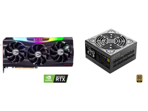 EVGA GeForce RTX 3090 FTW3 ULTRA GAMING Video Card 24G-P5-3987-KR 24GB GDDR6X iCX3 Technology ARGB LED Metal Backplate and EVGA SuperNOVA 750 G3 220-G3-0750-X1 80+ GOLD 750W Fully Modular EVGA ECO Mode with New HDB Fan Includes FREE Power O