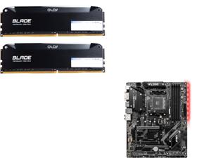 OLOy Blade 16GB (2 x 8GB) 288-Pin DDR4 SDRAM DDR4 3200 (PC4 25600) Desktop Memory Model ND4U0832162BRLDE and MSI B450 TOMAHAWK MAX AM4 AMD B450 SATA 6Gb/s ATX AMD Motherboard
