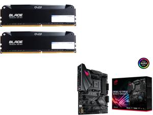 OLOy Blade 16GB (2 x 8GB) 288-Pin DDR4 SDRAM DDR4 3200 (PC4 25600) Desktop Memory Model ND4U0832162BRLDE and ASUS ROG STRIX B450-F GAMING II AM4 AMD B450 SATA 6Gb/s ATX AMD Motherboard