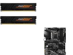 GeIL EVO SPEAR AMD Edition 16GB (2 x 8GB) 288-Pin DDR4 SDRAM DDR4 3000 (PC4 24000) Intel XMP 2.0 Desktop Memory Model GASB416GB3000C16ADC and MSI PRO Z490-A PRO LGA 1200 Intel Z490 SATA 6Gb/s ATX Intel Motherboard