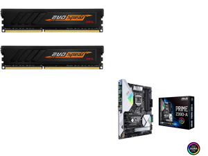 GeIL EVO SPEAR AMD Edition 16GB (2 x 8GB) 288-Pin DDR4 SDRAM DDR4 3000 (PC4 24000) Intel XMP 2.0 Desktop Memory Model GASB416GB3000C16ADC and ASUS Prime Z390-A LGA 1151 (300 Series) Intel Z390 SATA 6Gb/s ATX Intel Motherboard
