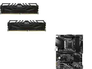 OLOy 16GB (2 x 8GB) 288-Pin DDR4 SDRAM DDR4 3200 (PC4 25600) Desktop Memory Model MD4U083216BJDA and MSI PRO Z490-A PRO LGA 1200 Intel Z490 SATA 6Gb/s ATX Intel Motherboard