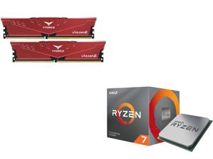 Team T-FORCE VULCAN Z 16GB (2 x 8GB) 288-Pin DDR4 SDRAM DDR4 3200 (PC4 25600) Intel XMP 2.0 Desktop Memory Model TLZRD416G3200HC16CDC01 and AMD RYZEN 7 3700X 8-Core 3.6 GHz (4.4 GHz Max Boost) Socket AM4 65W 100-100000071BOX Desktop Process