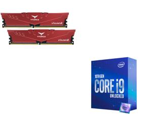 Team T-FORCE VULCAN Z 16GB (2 x 8GB) 288-Pin DDR4 SDRAM DDR4 3200 (PC4 25600) Intel XMP 2.0 Desktop Memory Model TLZRD416G3200HC16CDC01 and Intel Core i9-10850K Comet Lake 10-Core 3.6 GHz LGA 1200 125W Desktop Processor Intel UHD Graphics 6