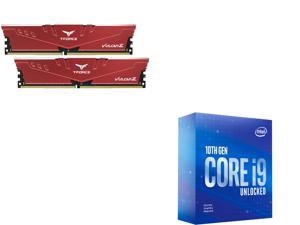 Team T-FORCE VULCAN Z 16GB (2 x 8GB) 288-Pin DDR4 SDRAM DDR4 3200 (PC4 25600) Intel XMP 2.0 Desktop Memory Model TLZRD416G3200HC16CDC01 and Intel Core i9-10900KF Comet Lake 10-Core 3.7 GHz LGA 1200 125W BX8070110900KF Desktop Processor