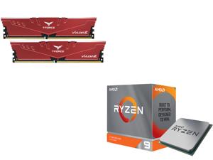Team T-FORCE VULCAN Z 16GB (2 x 8GB) 288-Pin DDR4 SDRAM DDR4 3200 (PC4 25600) Intel XMP 2.0 Desktop Memory Model TLZRD416G3200HC16CDC01 and AMD Ryzen 9 3950X 16-Core 3.5 GHz Socket AM4 105W 100-100000051WOF Desktop Processor