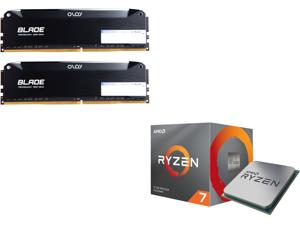 OLOy Blade 16GB (2 x 8GB) 288-Pin DDR4 SDRAM DDR4 3200 (PC4 25600) Desktop Memory Model ND4U0832162BRLDE and AMD RYZEN 7 3700X 8-Core 3.6 GHz (4.4 GHz Max Boost) Socket AM4 65W 100-100000071BOX Desktop Processor