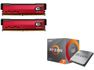 GeIL ORION AMD Edition 16GB (2 x 8GB) 288-Pin DDR4 SDRAM DDR4 3200 (PC4 25600) Intel XMP 2.0 Desktop Memory Model GAOR416GB3200C16ADC and AMD RYZEN 7 3700X 8-Core 3.6 GHz (4.4 GHz Max Boost) Socket AM4 65W 100-100000071BOX Desktop Processor