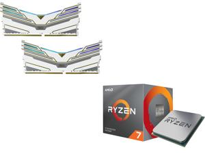 OLOy WarHawk RGB 16GB (2 x 8GB) 288-Pin DDR4 SDRAM DDR4 3600 (PC4 28800) Desktop Memory Model ND4U0836165BCWDX and AMD RYZEN 7 3700X 8-Core 3.6 GHz (4.4 GHz Max Boost) Socket AM4 65W 100-100000071BOX Desktop Processor
