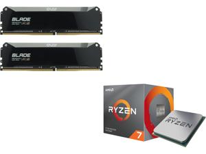 OLOy Blade 16GB (2 x 8GB) 288-Pin DDR4 SDRAM DDR4 3600 (PC4 28800) Desktop Memory Model ND4U0836182BRQDE and AMD RYZEN 7 3700X 8-Core 3.6 GHz (4.4 GHz Max Boost) Socket AM4 65W 100-100000071BOX Desktop Processor