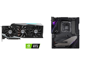 GIGABYTE GeForce RTX 3090 DirectX 12 GV-N3090GAMING OC-24GD 24GB 384-Bit GDDR6X PCI Express 4.0 x16 SLI Support ATX Video Card and GIGABYTE Z490 AORUS XTREME LGA 1200 Intel Z490 E-ATX Motherboard with Triple M.2 SATA 6Gb/s USB 3.2 Gen 2 WIF