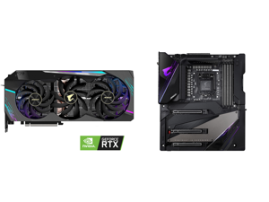 GIGABYTE AORUS GeForce RTX 3090 DirectX 12 GV-N3090AORUS X-24GD 24GB 384-Bit GDDR6X PCI Express 4.0 x16 SLI Support ATX Video Card and GIGABYTE Z490 AORUS XTREME LGA 1200 Intel Z490 E-ATX Motherboard with Triple M.2 SATA 6Gb/s USB 3.2 Gen 2