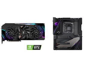 GIGABYTE AORUS GeForce RTX 3090 DirectX 12 GV-N3090AORUS M-24GD 24GB 384-Bit GDDR6X PCI Express 4.0 x16 SLI Support ATX Video Card and GIGABYTE Z490 AORUS XTREME LGA 1200 Intel Z490 E-ATX Motherboard with Triple M.2 SATA 6Gb/s USB 3.2 Gen 2