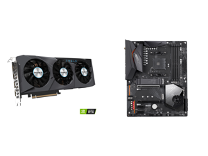 GIGABYTE GeForce RTX 3070 DirectX 12 GV-N3070EAGLE OC-8GD 8GB 256-Bit GDDR6 PCI Express 4.0 x16 ATX Video Card and GIGABYTE X570 AORUS ELITE WIFI AM4 AMD X570 SATA 6Gb/s ATX AMD Motherboard