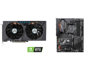 GIGABYTE GeForce RTX 3060 Ti DirectX 12 GV-N306TEAGLE-8GD 8GB 256-Bit GDDR6 PCI Express 4.0 x16 ATX Video Card and GIGABYTE B550 AORUS ELITE AM4 AMD B550 ATX Motherboard with Dual M.2 SATA 6Gb/s USB 3.2 Gen 2 2.5 GbE LAN PCIe 4.0