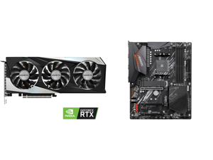 GIGABYTE GeForce RTX 3060 Ti DirectX 12 GV-N306TGAMING OC-8GD 8GB 256-Bit GDDR6 PCI Express 4.0 x16 ATX Video Card and GIGABYTE B550 AORUS ELITE AM4 AMD B550 ATX Motherboard with Dual M.2 SATA 6Gb/s USB 3.2 Gen 2 2.5 GbE LAN PCIe 4.0
