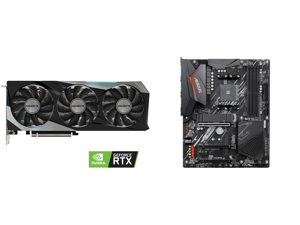 GIGABYTE GeForce RTX 3060 Ti DirectX 12 GV-N306TGAMINGOC PRO-8GD 8GB 256-Bit GDDR6 PCI Express 4.0 x16 ATX Video Card and GIGABYTE B550 AORUS ELITE AM4 AMD B550 ATX Motherboard with Dual M.2 SATA 6Gb/s USB 3.2 Gen 2 2.5 GbE LAN PCIe 4.0