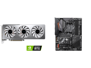 GIGABYTE GeForce RTX 3060 Ti VISION OC 8G Graphics Card WINDFORCE 3X Cooling System 8GB 256-bit GDDR6 GV-N306TVISION OC-8GD Video Card and GIGABYTE B550 AORUS ELITE AM4 AMD B550 ATX Motherboard with Dual M.2 SATA 6Gb/s USB 3.2 Gen 2 2.5 GbE