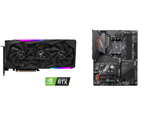 GIGABYTE AORUS GeForce RTX 3060 Ti DirectX 12 GV-N306TAORUS M-8GD 8GB 256-Bit GDDR6 PCI Express 4.0 x16 ATX Video Card and GIGABYTE B550 AORUS ELITE AM4 AMD B550 ATX Motherboard with Dual M.2 SATA 6Gb/s USB 3.2 Gen 2 2.5 GbE LAN PCIe 4.0