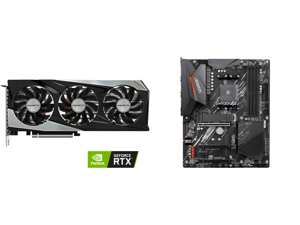 GIGABYTE GeForce RTX 3060 Ti GAMING OC PRO 8G (rev 2.0) Graphics Card WINDFORCE 3x Cooling System 8GB 256-bit GDDR6 GV-N306TGAMINGOC PRO-8GD Video Card and GIGABYTE B550 AORUS ELITE AM4 AMD B550 ATX Motherboard with Dual M.2 SATA 6Gb/s USB