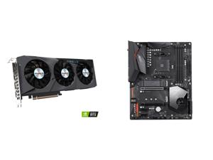 GIGABYTE GeForce RTX 3070 EAGLE 8GB Video Card GV-N3070EAGLE-8GD and GIGABYTE X570 AORUS ELITE WIFI AM4 AMD X570 SATA 6Gb/s ATX AMD Motherboard